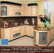 Кухни из крашеного МДФ-ПВХ с нанесением краски,  фасад ретро